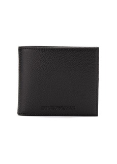 Armani logo embossed billfold wallet