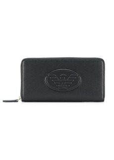 Armani logo embossed continental wallet