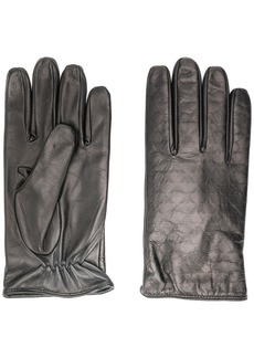 Armani logo embossed gloves
