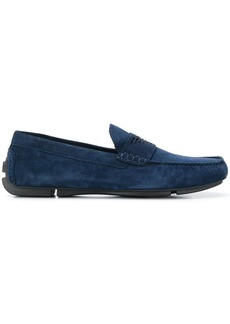 Armani logo embossed loafers