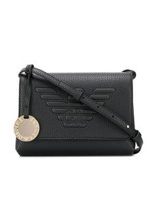 Armani logo embossed shoulder bag
