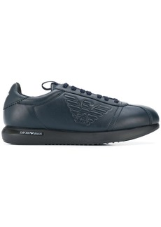 Armani logo embossed sneakers