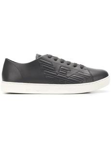 Armani logo embossed sneakers