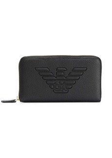 Armani logo embossed wallet