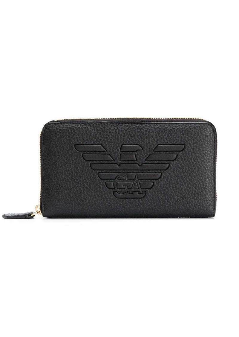 Armani logo embossed wallet