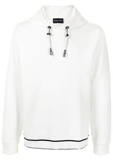 Armani logo-embroidered hoodie