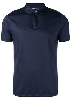 Armani logo embroidered polo shirt