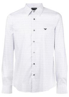 Armani logo embroidered shirt
