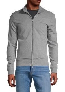 Armani Logo-Embroidered Stretch-Cotton Jacket