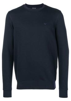 Armani logo embroidered sweater