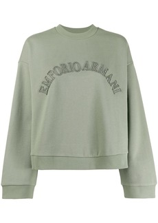 Armani logo embroidered sweatshirt