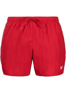 Armani logo embroidered swimming shorts
