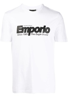 Armani logo embroidered T-shirt
