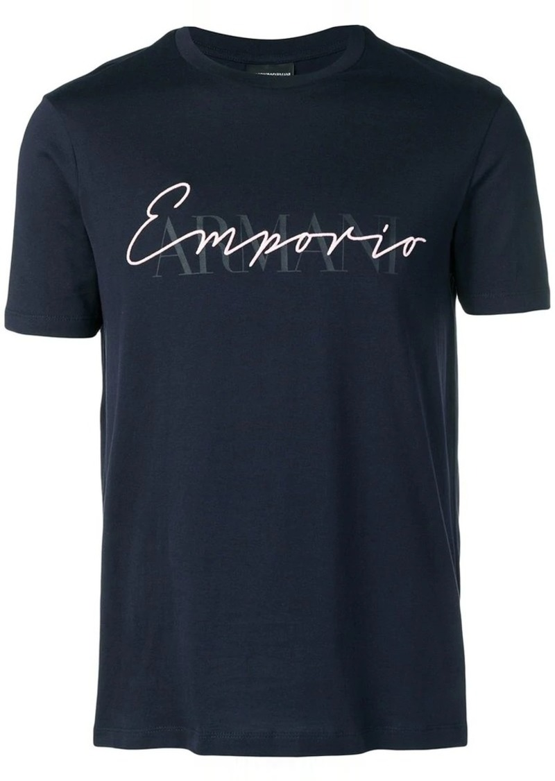 Armani logo fitted T-shirt