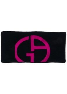 Armani logo headband