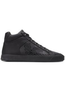 Armani logo hi-top sneakers