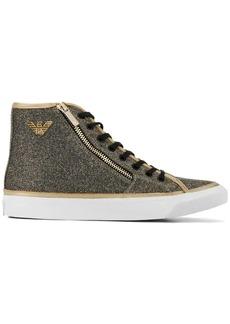 Armani logo high-top sneakers