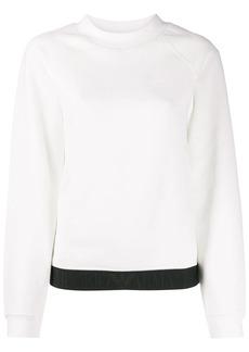 Armani logo jacquard trim sweatshirt