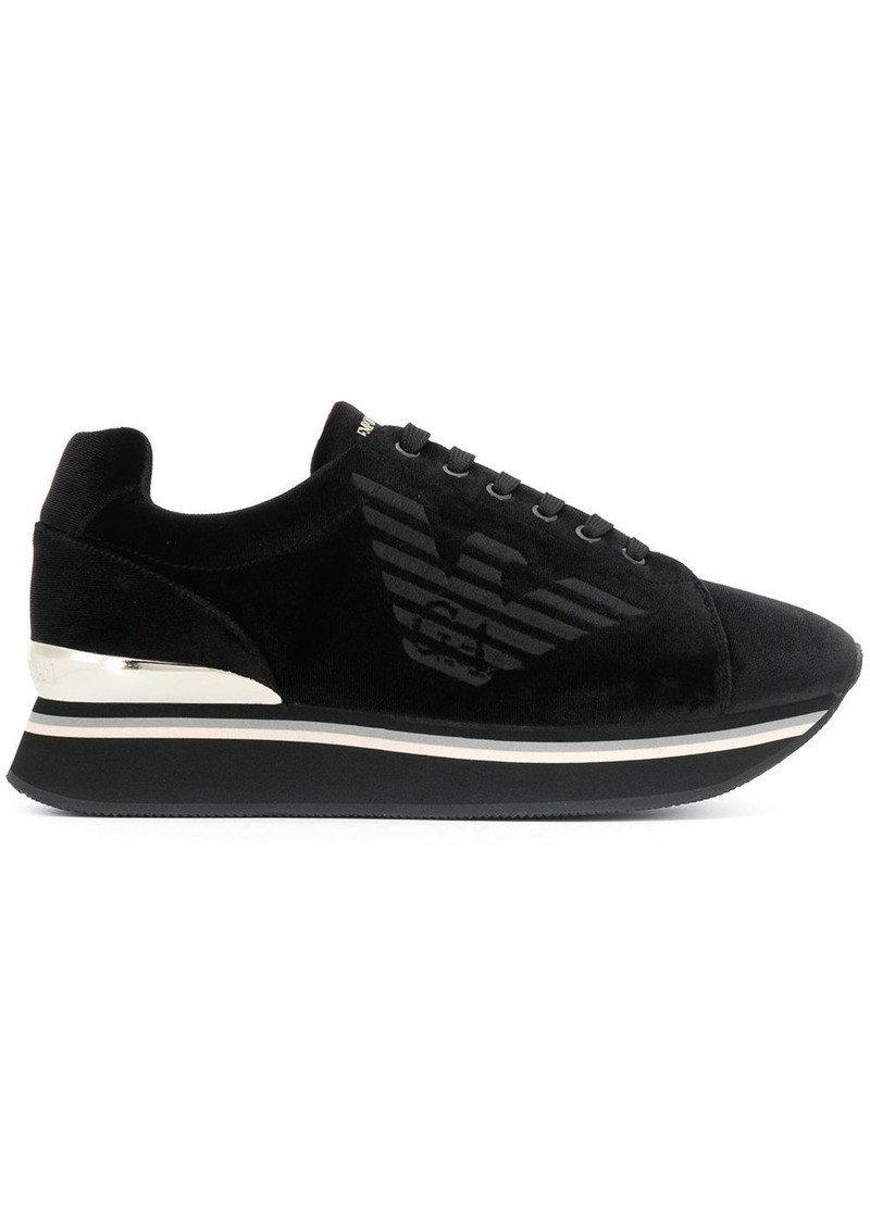 Armani logo lace-up sneakers