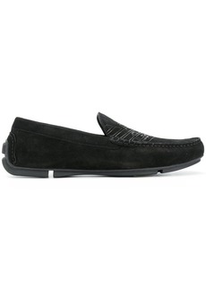 Armani logo loafers