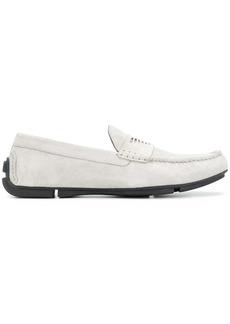 Armani logo loafers