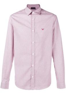 Armani logo long-sleeve fitted shirt