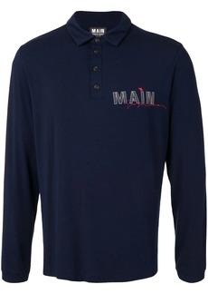 Armani logo long sleeve polo shirt