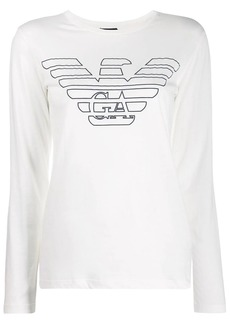 Armani logo long sleeve T-shirt