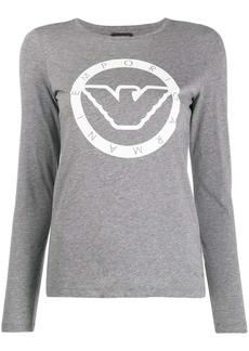 Armani logo long sleeve T-shirt