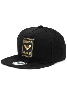 Armani logo patch baseball cap