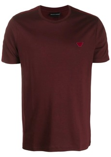 Armani logo patch crew-neck T-shirt