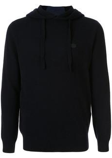 Armani logo patch hoodie
