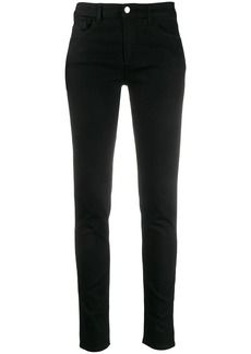 Armani logo patch low-rise skinny jeans