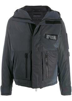 Armani logo patch padded jacket