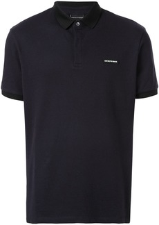 Armani logo patch polo shirt