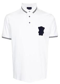 Armani logo patch polo shirt