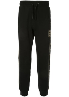 Armani logo patch track pants