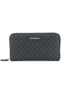 Armani logo-patch zip-around wallet