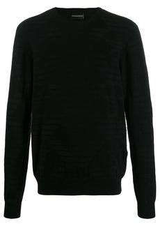 Armani logo patterned sweater