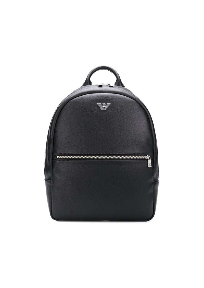Armani logo plaque backpack