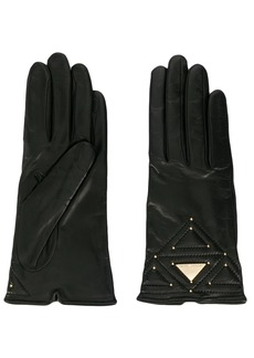Armani logo plaque gloves
