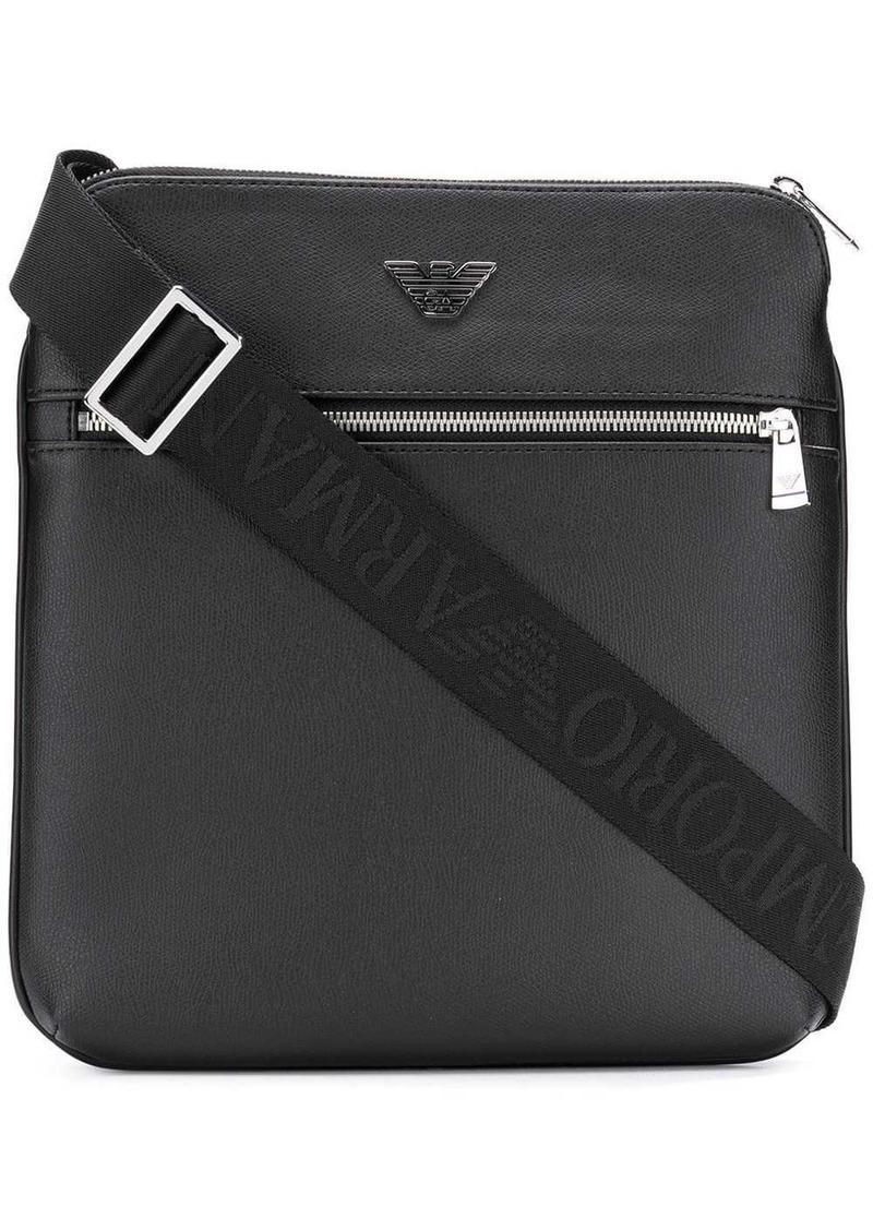 Armani logo plaque messenger bag