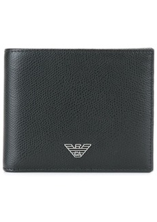Armani logo plaque small wallet