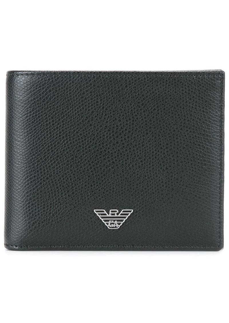 Armani logo plaque small wallet