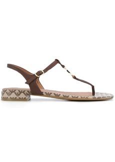 Armani logo-plaque T-bar sandals