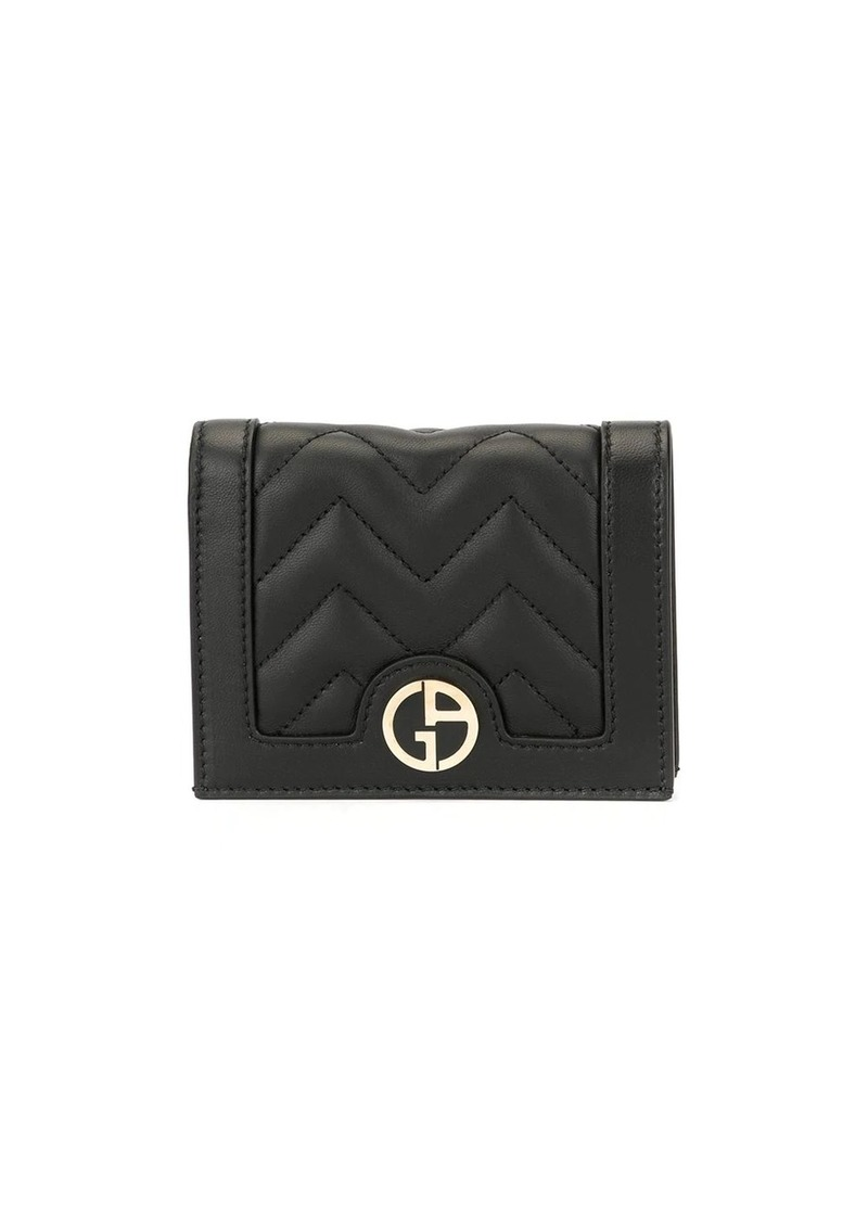 Armani logo plaque wallet
