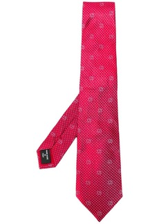 Armani logo pointed tip tie