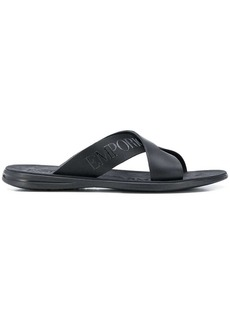 Armani logo pool slides