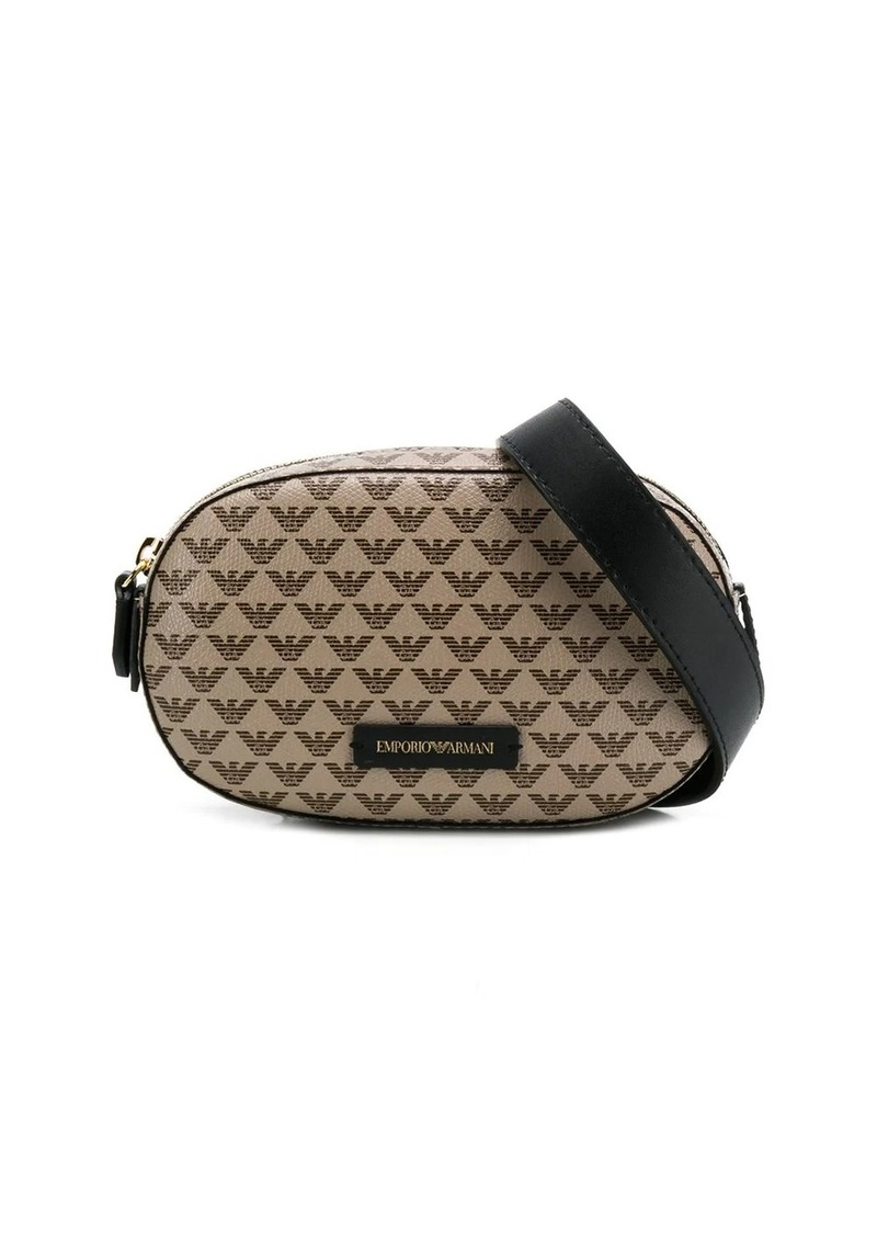 Armani logo print belt bag