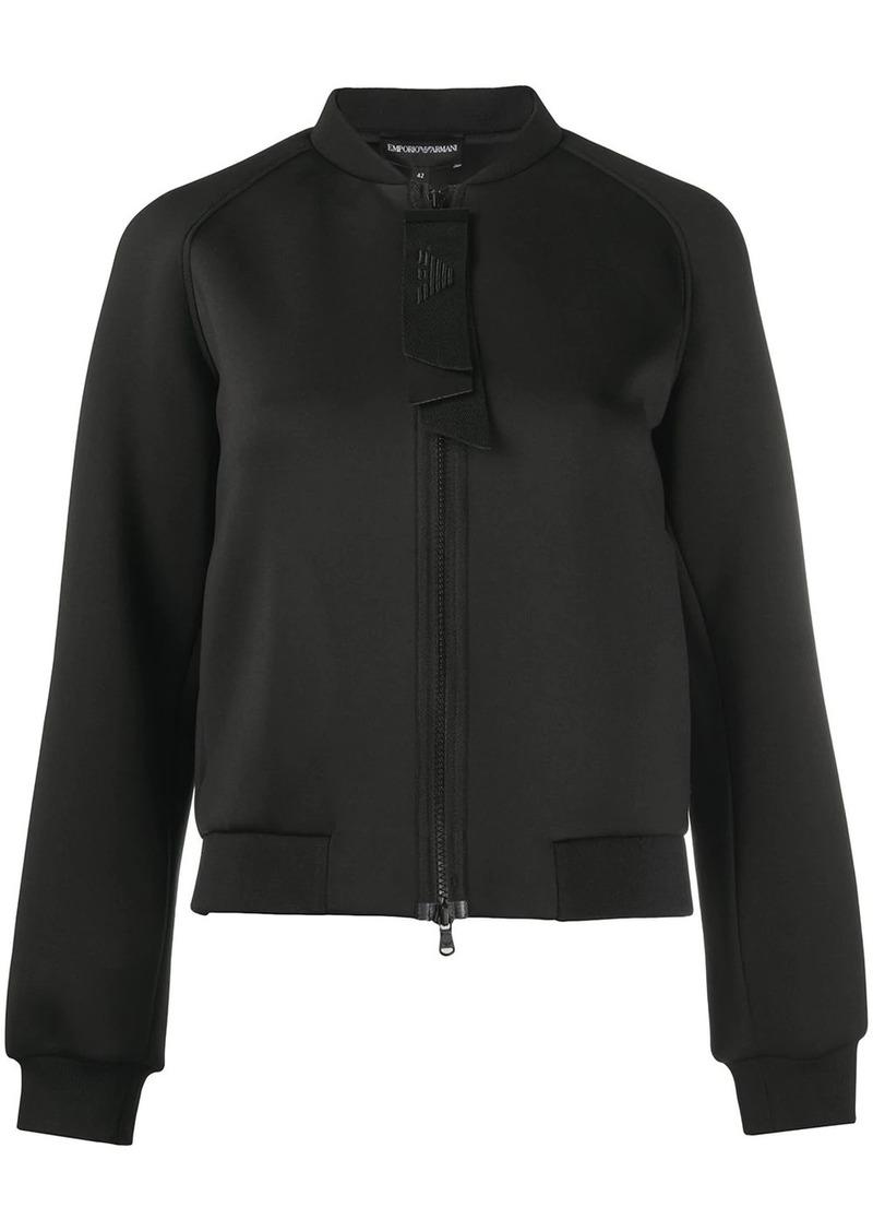 Armani logo print bomber jacket